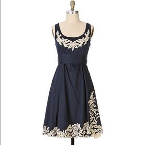 Anthropologie Embroidered Yacht Club Dress